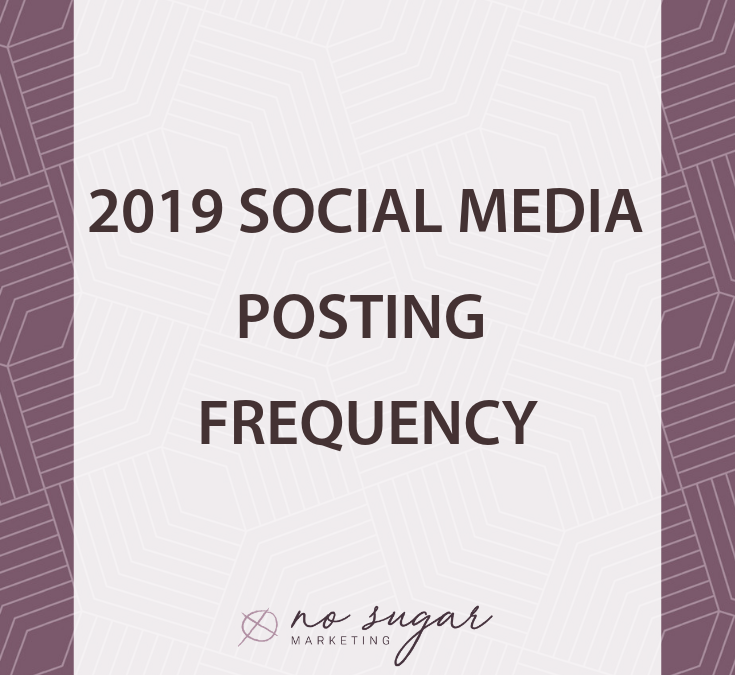 2019 Social Media Post Frequency