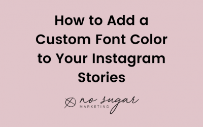 How to Add a Custom Font Color in IG Stories